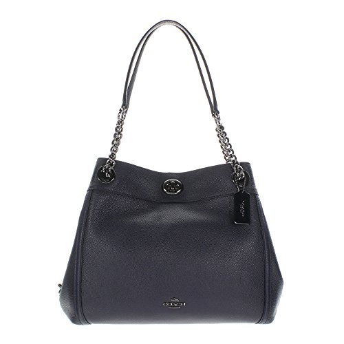 Coach, Borsa a spalla donna Dark Antique Nickel/Navy