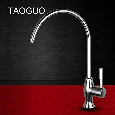 Monepain robinet filet en acier inoxydable 2cm 4cm Cuisine purificateur d'eau de refroidissement universel sans plomb ménage potable robinet,B, Section du tuyau d'aucune