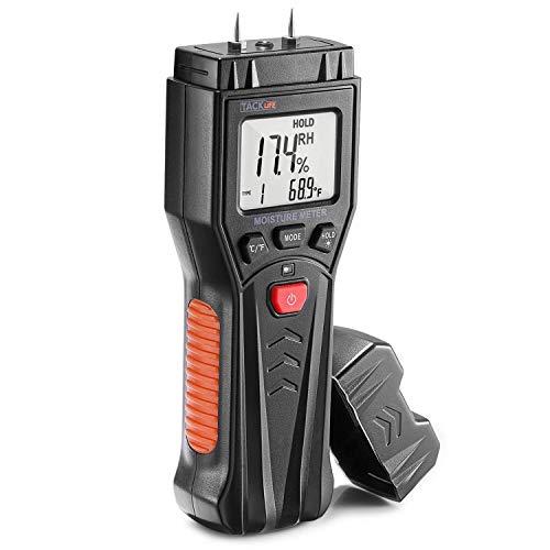 Tacklife Humidimètre, Testeur d'Humidité du Bois MWM03 avec 7 Modes, Fonction de Maintien de Données, Plantes,...