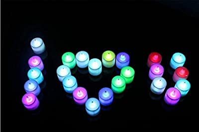 Set of 12 LED Candles, Flameless Tea Lights for Decoration, Festivals, Weddings with Batteries - cheap UK light shop.
