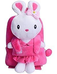 13ac43df03b027 Metoo Zaino Coniglietto Borse Bambini - 3D Cartone Animato Coniglio Peluche  Borse Tracolla Rosa
