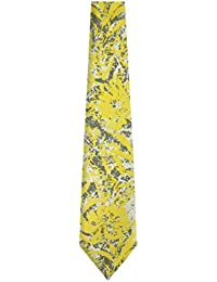 TBAH-8 - Tommy Bahama Mens Tie - Yellow - Olive