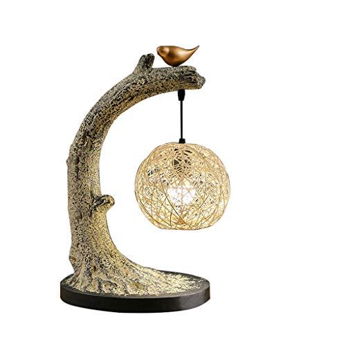 Moderne Neue Chinesische Tischlampe Wohnzimmer Studie Schlafzimmer Nachttischlampe Antike Vogel Zen Dekoration Tee Tisch Rattan Tischlampe Met Love Antike Tee