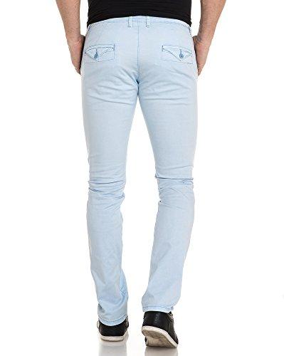 BLZ jeans - Man sky blue Chinos Blau