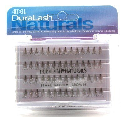 Ardell Duralash Naturals Flare Medium Brown (56 Lashes) (Pack of 6) (Künstliche Wimpern) - Ardell Duralash Flare