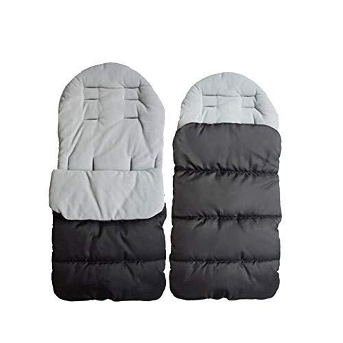 BabyFat Sacco a Pelo Passeggino Cart Wrap Coperta Caldo Busta Sleepsacks Grigio Label 0-2T