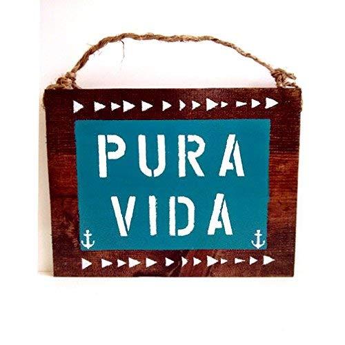 CPWood Cb638765 Pura Vida Costa Rica Schild Geschenk Pure Life Urlaub Anker Dekor Kunst Meer Gypsy Kalifornia Urban Outfitters Grosshandel