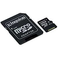 Kingston SDCS/128GB - MicroSD Canvas Select 128 GB, velocidades de UHS-I Clase 10 de hasta 80 MB/s lectura (con adaptador SD)