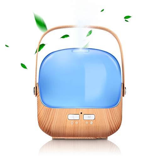 Mini lampada profumata, umidificatore, venature di legno, macchina per aromaterapia, olio colorato creativo a ultrasuoni diffusione incenso