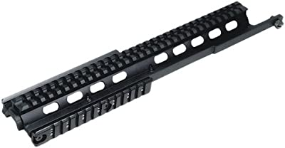 UTG Taktisches Tri-Rail Model 14 - Riel para armas de airsoft, color negro