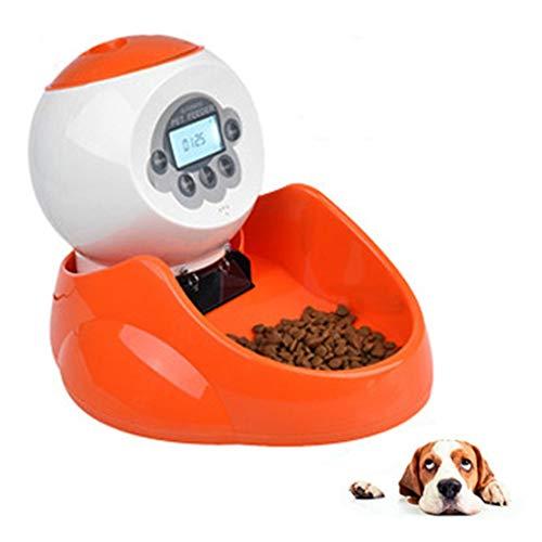Znn alimentatore automatico per animali domestici - dispenser per alimenti per gatti e cani con display a cristalli liquidi, cronometraggio automatico e quantitativo, design a doppio alimentatore