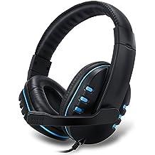 Mondpalast @ 3.5mm Estéreo Auriculares auriculares de Juego Sonido Estéreo con Micrófono Ajustable y Controlador de Volumen para Xbox 360 XBOX ONE 4 PS4 PC Computer Laptop teléfonos móviles