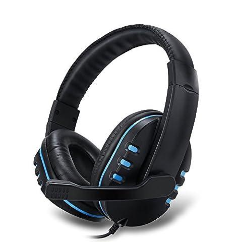 Mondpalast @ Gaming Headset 3,5mm Stereo Over-Ear-Kopfhörer kopfhörer Stirnband mit Mikrofon und Lautstärkeregelung für Xbox One PlayStation 4 PS3 PS4 PC MAC Laptop iPad iPod Smartphone