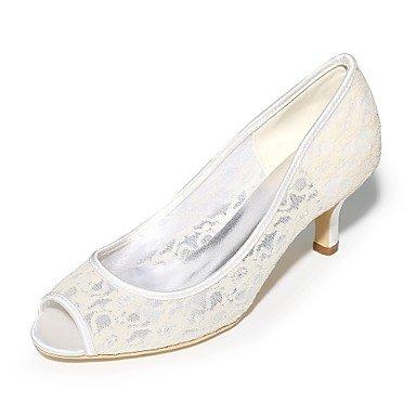Wuyulunbi@ Scarpe donna Tulle Primavera Estate della pompa base scarpe matrimonio Stiletto Heel Peep toe per la festa di nozze & Sera Nero Blu Arancione Rosa un Un