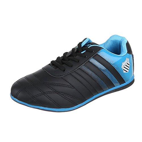 Ital-Design - Pantofole Donna Nero (Nero/Blu)