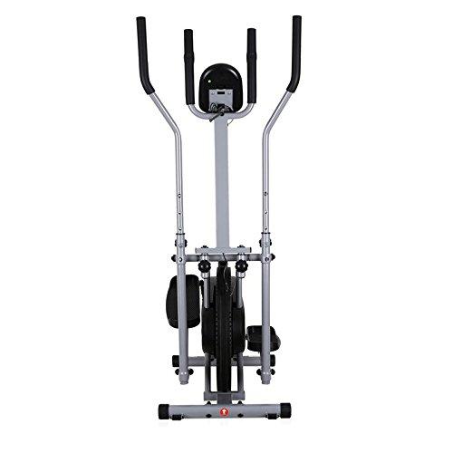 Klarfit ORBIFIT ADVANCED Heimtrainer Crosstrainer inkl. Trainingscomputer & Pulsmesser (stufenlos verstellbarer Widerstand, höhenverstellbarer Lenker, Anzeige: Kalorienverbrauch) silber - 2