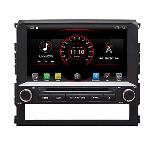 Autosion In-Dash Android 8.1, Auto-DVD-Player, Sat-NAV-Radio, GPS-Navigationstereo, für Toyota Land Cruiser 200 2016 2017 2018 2019, unterstützt Bluetooth SD USB Radio WiFi DVR 1080P Toyota Sat-radio