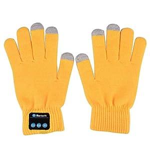 Pandiki Unisex nachladbare drahtlose Bluetooth Touch Screen Warm Strickhandschuhe Damen Herren Anruf Reden Herbst-Winter-Handschuhe