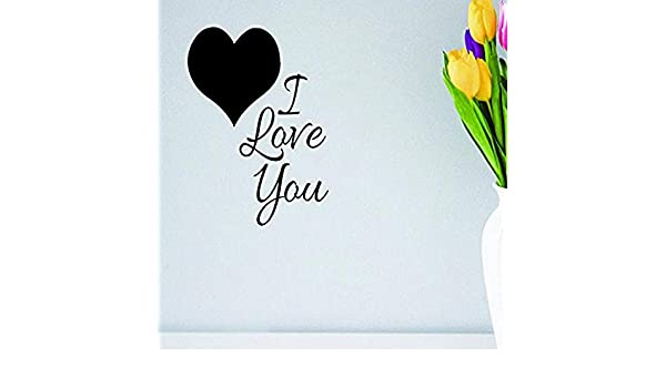 Design with Vinyl Moti 1580 2 Heart I Love You Peel /& Stick Wall Sticker Decal 14 x 28 Black