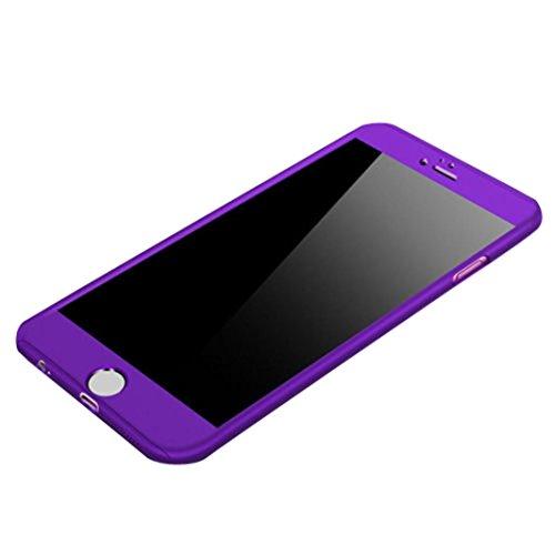 Cover per iPhone 7, Tpulling Custodia per iPhone 7 Case Cover Custodia sottile sottile sottile + cassa protettiva dello schermo di 360 ° per iPhone 7 4.7 pollici (Dark Blue) Purple