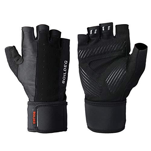 Huide Gewichtsaufhellungshandschuhe Wrist Wrist Wraps Lifting Palm Silikon Slip Wrist Wrist Wraps Body Building Powerlifting Breathable Wrist Support Strength Cycling (A Pair),M Thinsulate-slip