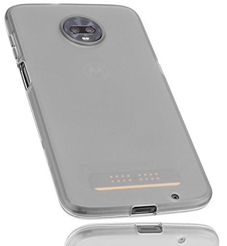 mumbi Schutzhülle für Motorola Moto Z3 Play Hülle transparent schwarz
