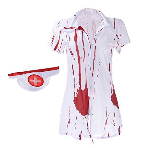 rror Chirurg Krankenschwester Zombie Blutige Kostüm Fancy Dress Party Outfits ()