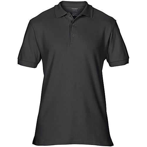 Gildan Mens Premium Double Pique Sport Shirt Black
