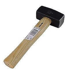 Fäustel Gewicht wählbar Fäustel mit Holzstiel Hammer Plattenhammer Feustel Holz, Gewicht:1000g