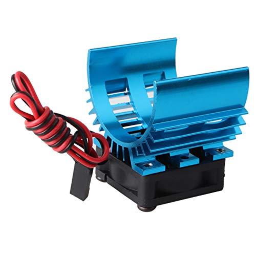 FFerngesteuertes Auto,TianranRT-Fernbedienung auto teile, kühler + lüfter, geeignet für 1/10 RC auto HSP Henglong 540/550 motor (blau, lila) -