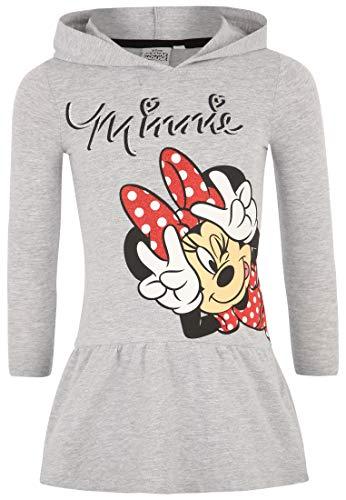 (Disney Minnie Mädchen Kleid 1693, Grau Gris, 2 Jahre)