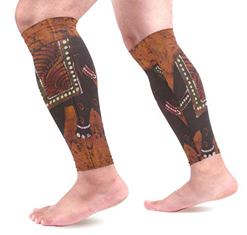 Bgejkos Indian Decorated Elephant Sports Wadenkompressions-Ärmel Leg Compression Socks Calf Guard for Running, Cycling, Maternity, Travel, Nurses -