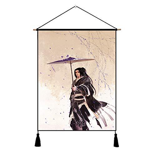 nanih Home Altes Kostüm, Anime-Stoff, Malerei, chinesische Studie, Wohnzimmer, dekorative Malerei (Size : B) (Chinesische Anime Kostüm)