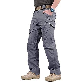 GooDoi Pantalones De Carga PantalóN De Trabajo De Combate para Hombres Pantalones Militares para Exteriores para Acampar Senderismo para Caminar
