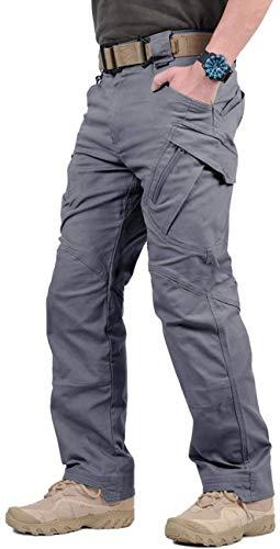 "GooDoi Arbeitshosen Männer Military Pants Tactical Hose Arbeitshose für Mann Cargohose Männer Combat Outdoor-Hose für Camping Wandern (Grau, 32 (=Tag XL,Taille 34,6\""))"