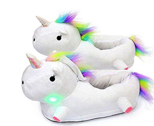 Bianco Singolo Dell'interno Uomini Unisex Bambini Scaldano Di Unicorno Led Pistoni Pistoni Slittano Peluche I Magike Donne Formato Inverno 4ZTPzq