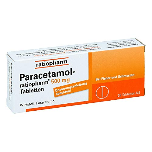 Paracetamol-ratiopharm 500 mg Tabletten, 20 St. Tabletten