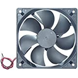 """MAA-KU DC Axial Case Cooling Fan. Size : 4.72"""" inches (12x12x2.5cm), (120x120x25mm), Supply Voltage : 12VDC, Material : Plastic P.B.T, Color : Black."""