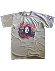 Che Guevara Revolution T-Shirt mit Cuba Wappen Gr.S-XXL