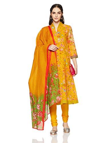 f741b530e17 BIBA Women s Anarkali Salwar Suit (SKD5411 YEL 38)