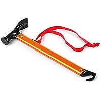 haichen Camping multifunción mazo martillo escalada al aire libre tienda de campaña ultraligero aleación de aluminio martillo, naranja