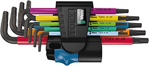 Preisvergleich Produktbild Wera 967 SL/9 TORX HF Multicolour Winkelschlüsselsatz mit Haltefunktion, 9-teilig, 1 Stück, 05024179001