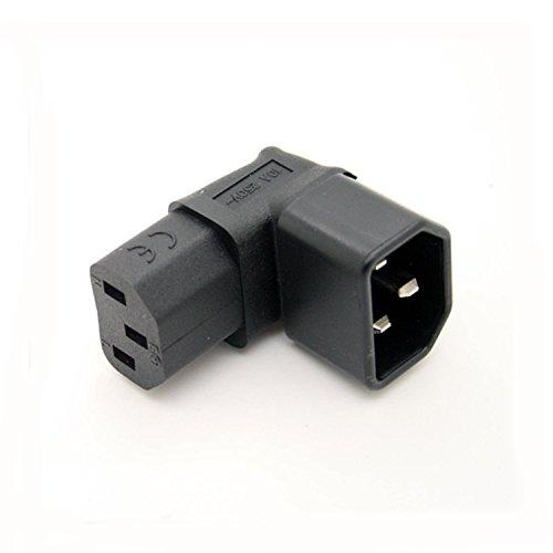 Anschluss gewinkelt IEC 320 C14 auf C13 Power Stecker Adapter Sockel TV LCD Wand montage