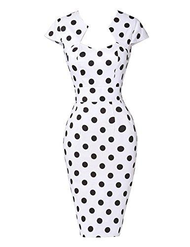 GRACE-KARIN-Ladies-1950s-Vintage-Bodycon-Pencil-Dress-Formal-Retro-Evening-Dress-10Colors-S3XL