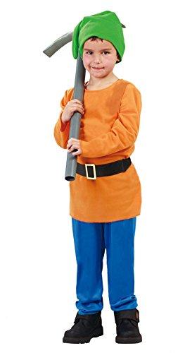 Wald Zwerg - Kostüm für Kinder Gr. 110 - 146, - 7 Zwerge Kostüm Für Kleinkind