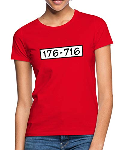 Kostüm Shirt Häftling - Spreadshirt Panzerknacker Kostüm Gruppenkostüm Frauen T-Shirt, L (40), Rot