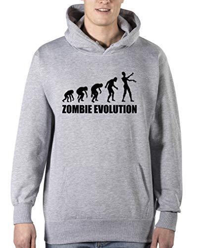 ie Evolution - Herren Hoodie - Grau/Schwarz Gr. S ()
