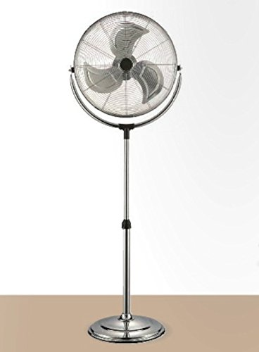 Ardes AR5C45PH Ventilatore a Piantana Base Tonda Chrome 45P, 3...