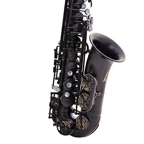 LVSSY-Saxphone Messing Lackiert Gold E Flat Schlüsseltyp Für Methode 54 Holzblasinstrument Mit Reinigung Pinsel Tuch Handschuhe Cork Grease Strap Padded Fall