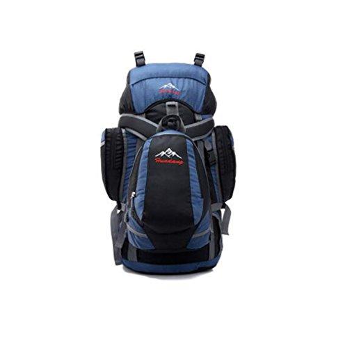 Wmshpeds Grande capacità professionale Borsa Alpinismo Outdoor Camping Escursionismo avanzato resistente all usura resistente allo strappo e zaino a spalla A
